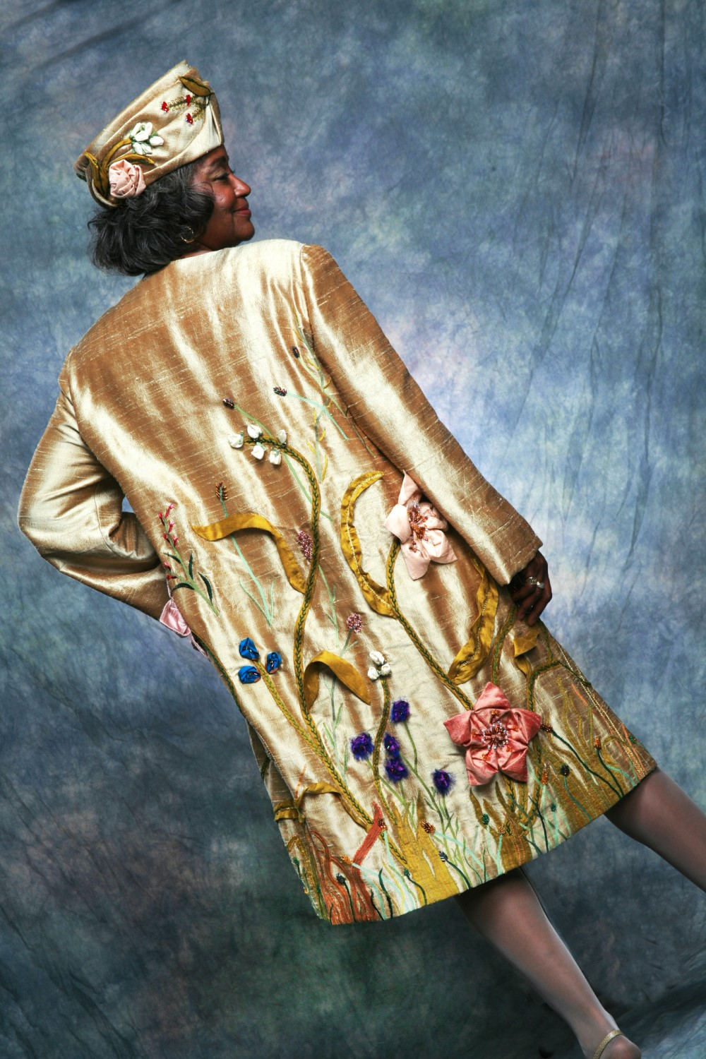 Golden Garden Coat by MaryGwyneth, Back