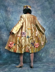 Golden Garden Coat & Hat by MaryGwyneth Fine Wearable Art