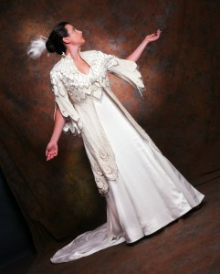 Wedding Coat White Peacock by MaryGwyneth NICHE Awards Finalist