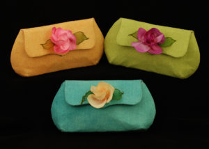 Silk Noil Clutch by MaryGwyneth Fine Wearable Art