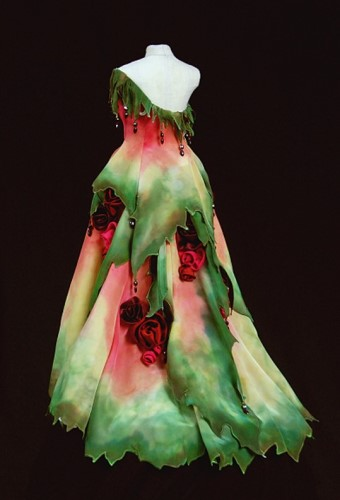 Rose's Edge Gown in Miniature by MaryGwyneth Fine Wearable Art