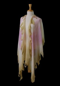 Wearable Art Jackets and Wraps by MaryGwyneth: Roses Edge Wrap in Silk Wool
