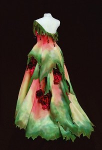 Rose's Edge Gown by MaryGwyneth Fine Wearable Art a 2012 NICHE Awards Finalist